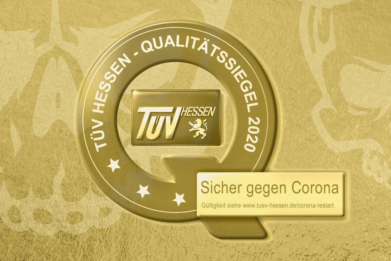 TÜV Zertifikat Sicher gegen Corona